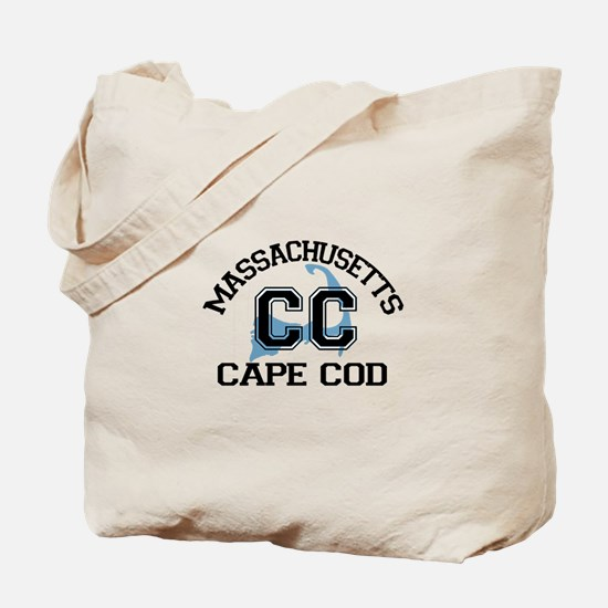 Cape Cod MA - Varsity Design Tote Bag