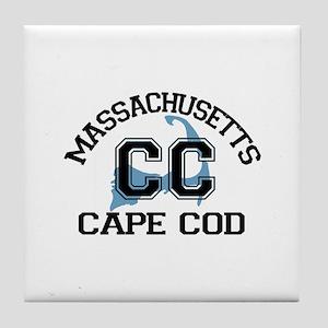 Cape Cod MA - Varsity Design Tile Coaster