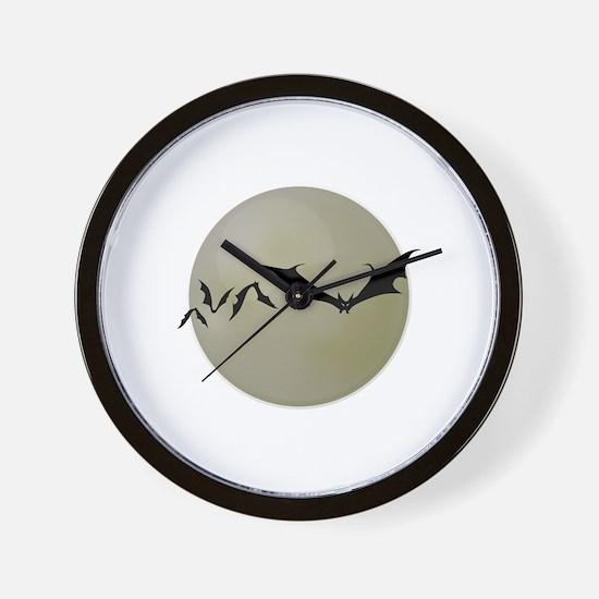 Moon Bats Wall Clock
