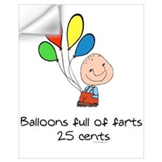 Balloons full of farts.. Wall Decal
