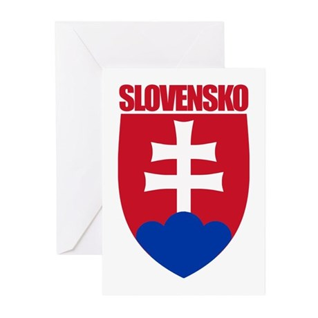 Slovak Republic COA Greeting Cards (Pk of 10)