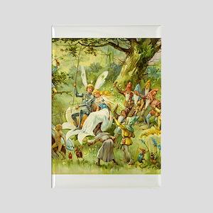 Gnomes, Elves & Forest Fairies Rectangle Magnet