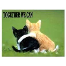TOGETHER WE CAN Framed Print