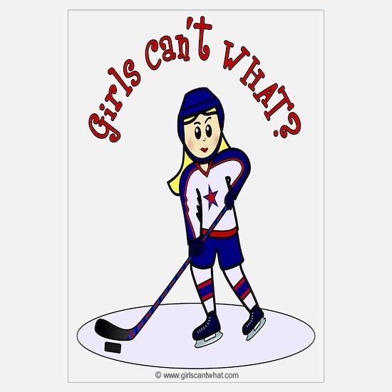 Blonde Hockey Girl