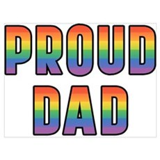 GLBT Rainbow Proud Dad Framed Print
