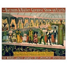 BARNUM AND BAILEY FREAK SHOW 16x20 Poster