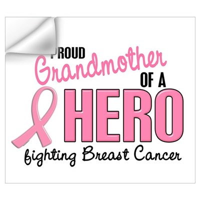 Proud Grandmother Of A Hero 1 (BC) Pri Wall Decal