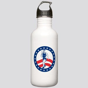 American Marathon runner Stainless Water Bottle 1.
