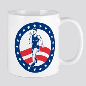 American Marathon runner Mug