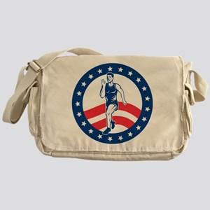 American Marathon runner Messenger Bag