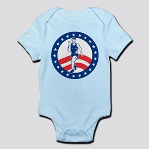 American Marathon runner Infant Bodysuit