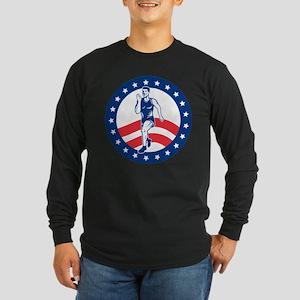 American Marathon runner Long Sleeve Dark T-Shirt