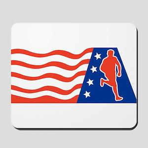 American Marathon runner Mousepad