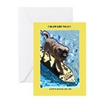 """""""Surfing Dog"""" Greeting Cards (Pk of 10)"""