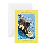 """Surfing Dog"" Greeting Card"