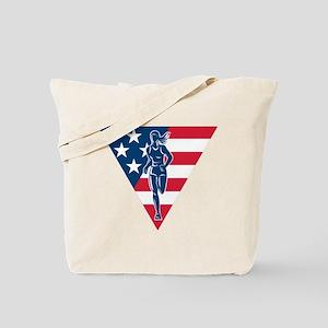 American Marathon runner Tote Bag
