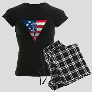 American Marathon runner Women's Dark Pajamas