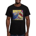 """Sailing"" Men's Fitted T-Shirt (dark)"