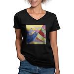 """Sailing"" Women's V-Neck Dark T-Shirt"