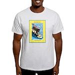 """Surfing Dog"" Light T-Shirt"