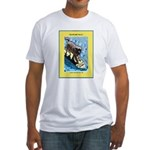 """""""Surfing Dog"""" Fitted T-Shirt"""