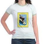 """""""Surfing Dog"""" Jr. Ringer T-Shirt"""