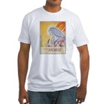 """""""I Dream in Horse"""" Fitted T-Shirt"""