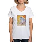 """""""I Dream in Horse"""" Women's V-Neck T-Shirt"""