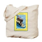 """Surfing Dog"" Tote Bag"