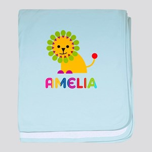 Amelia the Lion baby blanket