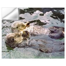 Sea Otter Love Wall Decal
