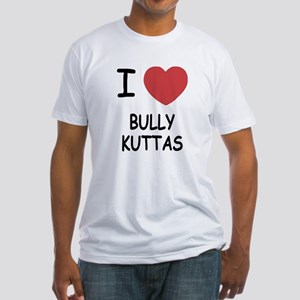 I heart bully kuttas Fitted T-Shirt