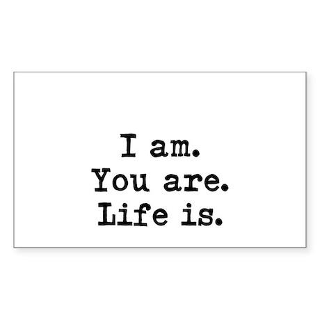 I am Sticker (Rectangle)
