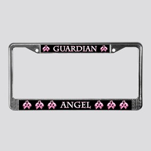 Pink Guardian Angel License Plate Frame
