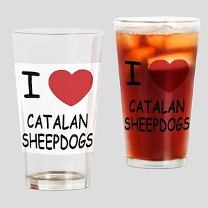 I heart catalan sheepdogs Drinking Glass