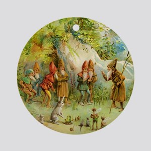 Gnomes, Elves & Forest Fairies Ornament (Round)