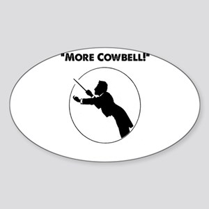 "Mahler ""More Cowbell!"" Sticker (Oval)"