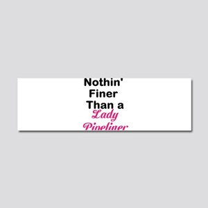 Lady Pipeliner Car Magnet 10 x 3