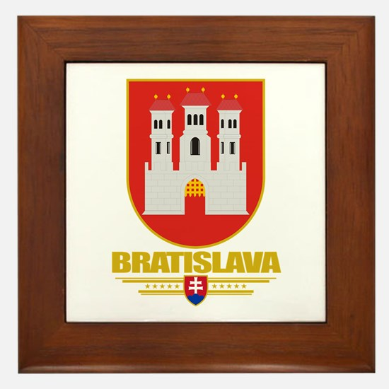 Bratislava COA Framed Tile