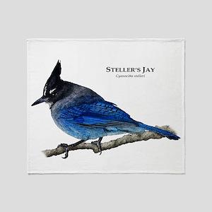 Steller's Jay Throw Blanket