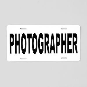 Photographer Aluminum License Plate