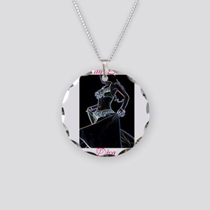 Belly Dance Diva Necklace Circle Charm