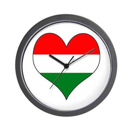 Hungary Heart Wall Clock