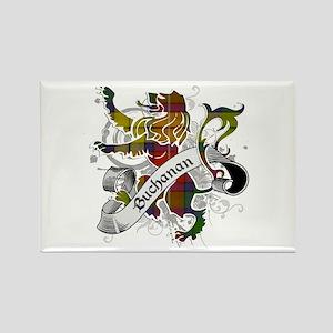 Buchanan Tartan Lion Rectangle Magnet