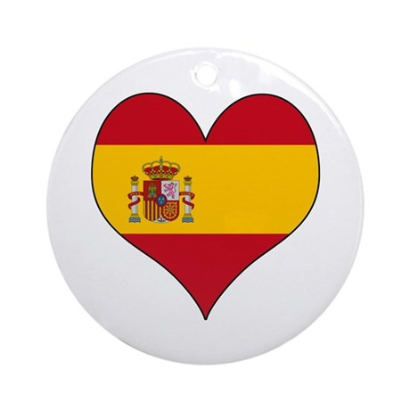 Spain Heart Ornament (Round)
