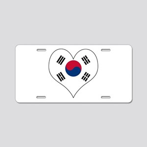 S. Korea Heart Aluminum License Plate