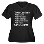 They're Cane Corso Women's Plus Size V-Neck Dark T