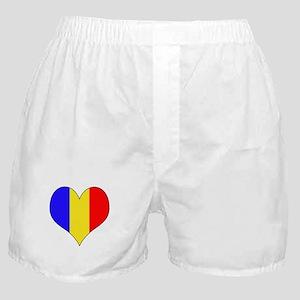 Romania Heart Boxer Shorts