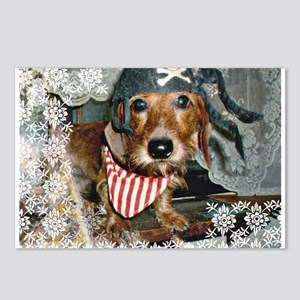 Puppy in Pirate Costume Postcards (Package of 8)