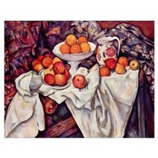 Still Life with Apples and Or Poster